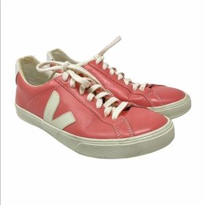 Veja 6  Esplar Sneakers Pink Leather Lace Up
